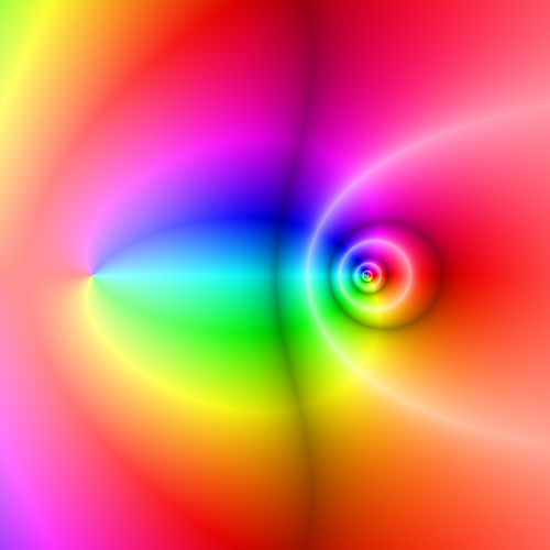 Complex DiLog function rendered using domain coloring